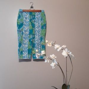 Lilly Pulitzer  Pool Fish print Capris